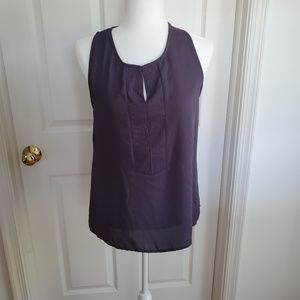 Pleione Heather Grey Blouse size Small